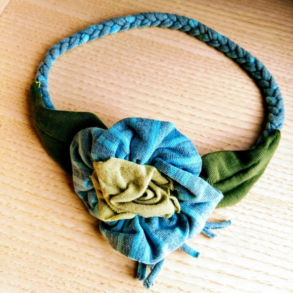 Other - Knit & Braided Flower & Leaf Hair / Head Band